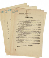 12 Modèles Ancien D'horoscope 1960 - Non Classificati