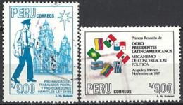 Peru 1988. Mi.Nr. 1373-1374, Used O - Peru