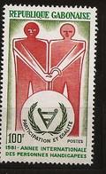 Gabon 1981 N° 472 ** Année Internationale Des Personnes Handicapées, Handicap, Main, Canne Blanche, Egalité, Aveugle - Gabon (1960-...)