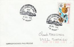 PEUGEOT CHAMPION DU MONDE DES VOITURES DE SPORTS 1992 - Gedenkstempels