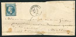 FRANCE ( OBLITERATION LOSANGE ) GC  740  Carpentras  Vaucluse (86) , A SAISIR .fra - 1849-1876: Periodo Classico