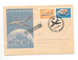 Russia Briefomslag Luchtpost 1960 Rusland Brussel - Gebruikt