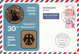 BPP 92  Germany Philatelic Society  - 30 TH  Federal Republic Of Germany, Berlin 12 - Postales Privados - Usados