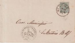 "ITALIE : OBL . "" VERONA  "" . 1877 . - Marcophilia"