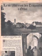 Régionalisme-Abbaye D'Orval-La Vie Laborieuse Des Moines Trappistes-Moine Trappiste- Patriote Illustré-8 Décembre 1946 - Religion