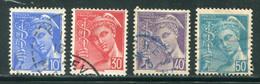 FRANCE-Y&T N°546 à 549- Oblitérés - Gebraucht
