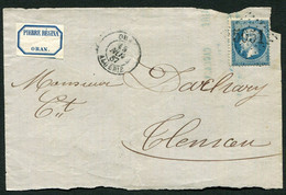 FRANCE ( OBLITERATION LOSANGE ) GC  5051   Oran  (Oran) , A SAISIR .fra - 1849-1876: Période Classique