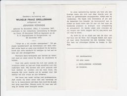 Doodsprentje - Sterbebildchen - Wilhelm Grolleman - Dinslaken 1907 / Bergen Op Zoom 1976 - Hoogerheide - Todesanzeige