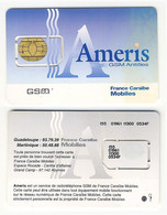 FRENCH ANTILLES___GSM SIM Card With Chip Used___Ameris France Caraibe___RRR - Antille (Francesi)