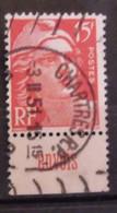 France N° 813 Oblit. Gandon. Timbre De Carnet. Bande Publicitaire Publicité Pub. - Publicidad