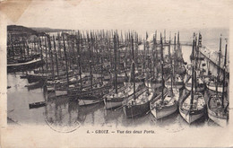 56 - Morbihan - CPA écrite - Groix - Vue Des Deux Ports - Groix