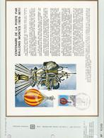 DOCUMENT FDC 1971 CENTENAIRE POSTE PAR BALLONS MONTES - 1970-1979