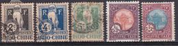 Indochine Timbre Taxe1908 Et 1927 N°5-6-7-44-48 Oblitéré Et Neuf* - Timbres-taxe