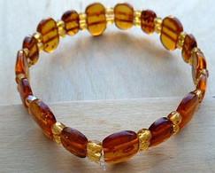 Bra-048 Bracelet Extensible Probable Du Jade Intercalé De  Perles De Couleur Identique - Non Classificati