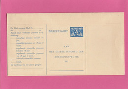 "KOMPLETE ""ARBEIDSLIJST 1919""  UNGEBRAUCHT. - Brieven En Documenten"
