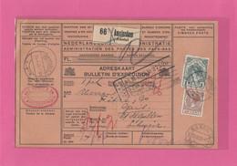 ADRESKAART.BULLETIN D'EXPEDITION.PAKETKARTE VON AMSTERDAM NACH GAIS,VIA BASEL.1925. - Brieven En Documenten