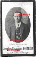 Oorlog Guerre Joseph Bostels Zele Gesneuveld Bombardement D'une Usine De Munitions Bousbecque Wervicq Sud 26 Juni 1918 - Devotieprenten