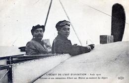 AVIATEURS  CIRCUIT DE L'EST 1910   MOISSAN ET SON MECANICIEN ALBERT SUR BLERIOT - Aviadores