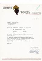 VP COURRIER 1964 (V2030) POMPEI WINERY (1 Vue) 3994 East 89Th Street Cleveland 5 Ohio - Etats-Unis