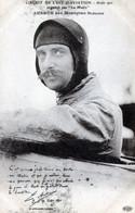 AVIATEURS   CIRCUIT DE L'EST 1910   AUBRUN SUR MONOPLAN BLERIOT - Aviadores