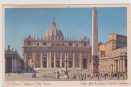 FRANCE 1952 Carte Post St Pierre VATICAN PA Pour Altadena (California  Affr. N°YT 912, 811 Et 901 Cachet Paris 2.5 1952 - Vatican