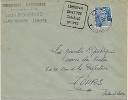 LETTRE OBLITERATION DAGUIN- LUSIGNAN QUIETUDE CAMPING SPORTS -VIENNE  -ANNEE 1954- - Maschinenstempel (Sonstige)