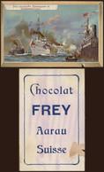 Chromo - Chocolat Frey (Aarau, Suisse). Thématique Bateau, Boat. Abimé Légèrement. - Otros