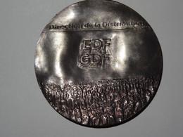 EDF  GDF Médaille Direction De La Distribution En Bronze - Andere