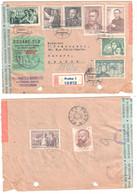 PRAHA 1 Registred Letter Cancel 21 12 50  Ceskoslovensky Douane-Clo Echange RECIPROQUE - Covers & Documents