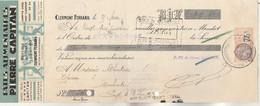 Lettre Change Illustrée 25/2/1933 Pierre CAPITAN Pâtes Alimentaires CLERMONT FERRAND Puy De Dôme - Fiscal - Bills Of Exchange