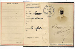 ANGLADE (Gironde)-Carte D'Identité Système L. MAICHE 2 Crs De L'Intendance Bordeaux... ???? - Other