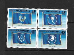 MICRONESIE 1989 DRAPEAUX  YVERT N°A35/38 NEUF MNH** - Francobolli