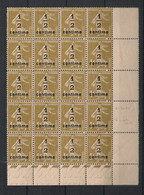 France - 1932-37 - N°Yv. 279A - Semeuse 1/2 Sur 1c Olive - Bloc De 20 Bord De Feuille - Neuf Luxe ** / MNH / Postfrisch - Unused Stamps