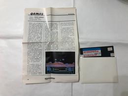 COMMODORE C64 FLOPPY DISK DRIVE ANDROMEDA STARSHIP+RECENSIONE GIORNALE - Commodore