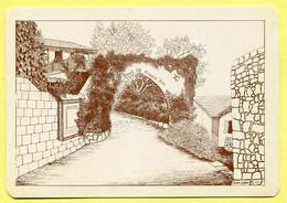 PISSOURI Village -  View Of  The Bunch Grapes Inn - Illustrated By John SABRY 1981 CYPRUS. CHYPRE ZYPERN - Zypern