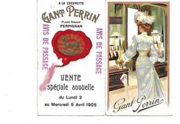 CARTE PUB DOUBLE GANT PERRIN - Perpignan