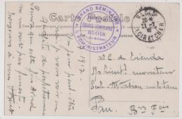CPA  Hopital Temporaire Du Grand Séminaire De Blois (41) Cachet Sur Carte De Blois à L'Ecole D'Aviation De Pau - War 1914-18