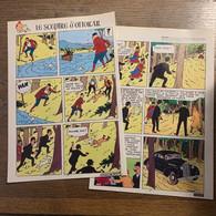 HERGE TINTIN Le Sceptre D' Ottokar En Syldavie 2 Pages Version Originale Les Dupond(t) - Verzamelingen