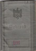 DEUTSCHLAND / 1940-45 / WEHRPAS / HEER / WILLI BERGMANN - Documentos Históricos