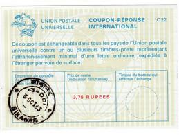 INDIA Coupon Universal Postal Union C22 BIKANER 1983 3.75 Rupees - Sin Clasificación