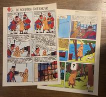 HERGE TINTIN Le Sceptre D' Ottokar En Syldavie 2 Pages Version Originale Appareil Photo - Verzamelingen