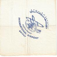 Serviette: Restaurant International Airport; Beirut. Epoque 1958. - Sin Clasificación