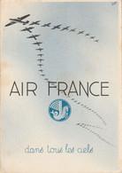Carte Postale Illustrée Air France Neuve Tarif Réduit  Jour De L'An 'Dans Tous Les Ciels'. Du 1er Décembre Au 1( Janvier - Air Post