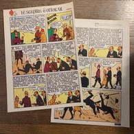 HERGE TINTIN Le Sceptre D' Ottokar En Syldavie 2 Pages Version Originale Sol Glissant - Verzamelingen