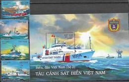 VIETNAM, 2020, MNH, SHIPS, VIETNAMESE COAST GUARD, 4v+S/SHEET - Barche