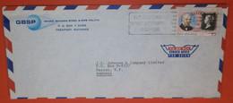 BAHAMAS 440 Rowland Hill - Freeport 12.06.1980 - GBSP - SST Slogan: 75 Th Rotary - Brief Cover (2 Foto)(38909) FFF - Bahamas (1973-...)
