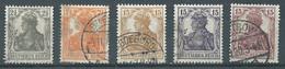 Allemagne Empire YT N°97-98-99-100-101 Germania (filigrane A) Oblitéré ° - Oblitérés