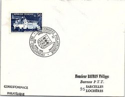 FRANCE - LETTRE CACHET COMMEMORATIF 12e CONGRES PHILATELIQUE GROUP. BRETAGNE 23-24 AVRIL 1966 CONCARNEAU 29.S /1 - Briefe U. Dokumente