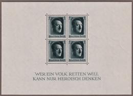 GERMANIA III REICH 1937 48° DI ADOLF HITLER  UNIFICATO BF8  DENTELLATO MNH** SPLENDIDO E PERFETTO - Blocchi