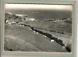 CPSM Dentelée - (50) FLAMANVILLE-DIELETTE- Vue Aérienne Du Camping, Du Bourg Et Du Port En 1964 - Other Municipalities